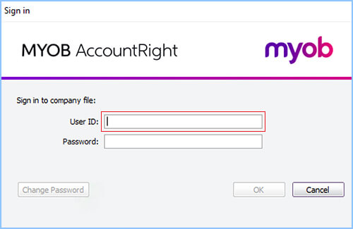square + myob integration - MYOB company file user ID